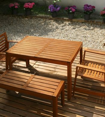 Aquadecks applied to outdoor furniture