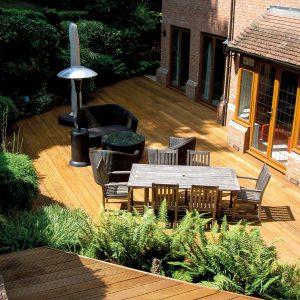 Aquadecks in Honey applied to a terrace