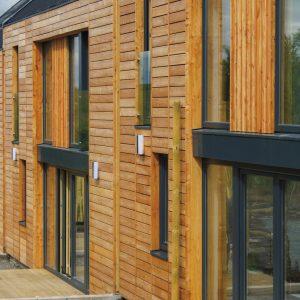 Aquadecks applied to wood cladding - ©Adfields