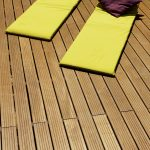 Aquadecks applied to a deck with sun loungers - ©Adfields