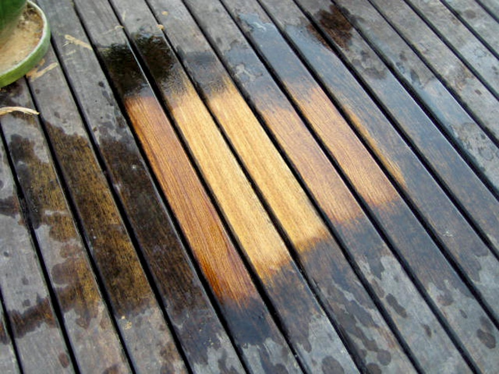 Aquanett used on decking