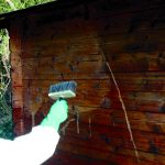 Net-Trol being applied to a chalet