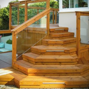 Aquatrol applied applied to a deck and stair case