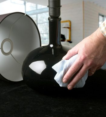 Cleaning a lamp before application of ESP