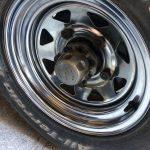 Car wheel applied to a car wheel