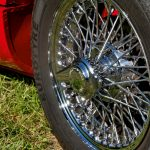 Polytrol used to restore color and shine to car wheel