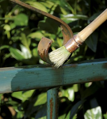 Owatrol Oil used on metal fence - ©Adfields