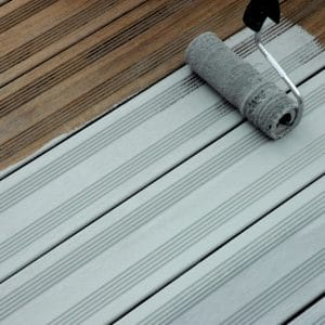 SCS being applied to a deck