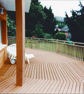 Textrol applied to cladding and garden deck