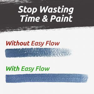 Comparison of painting with and without Easy Flow
