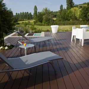 Tropitech applied to a swimming pool deck