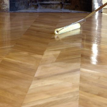 Application of wood oil