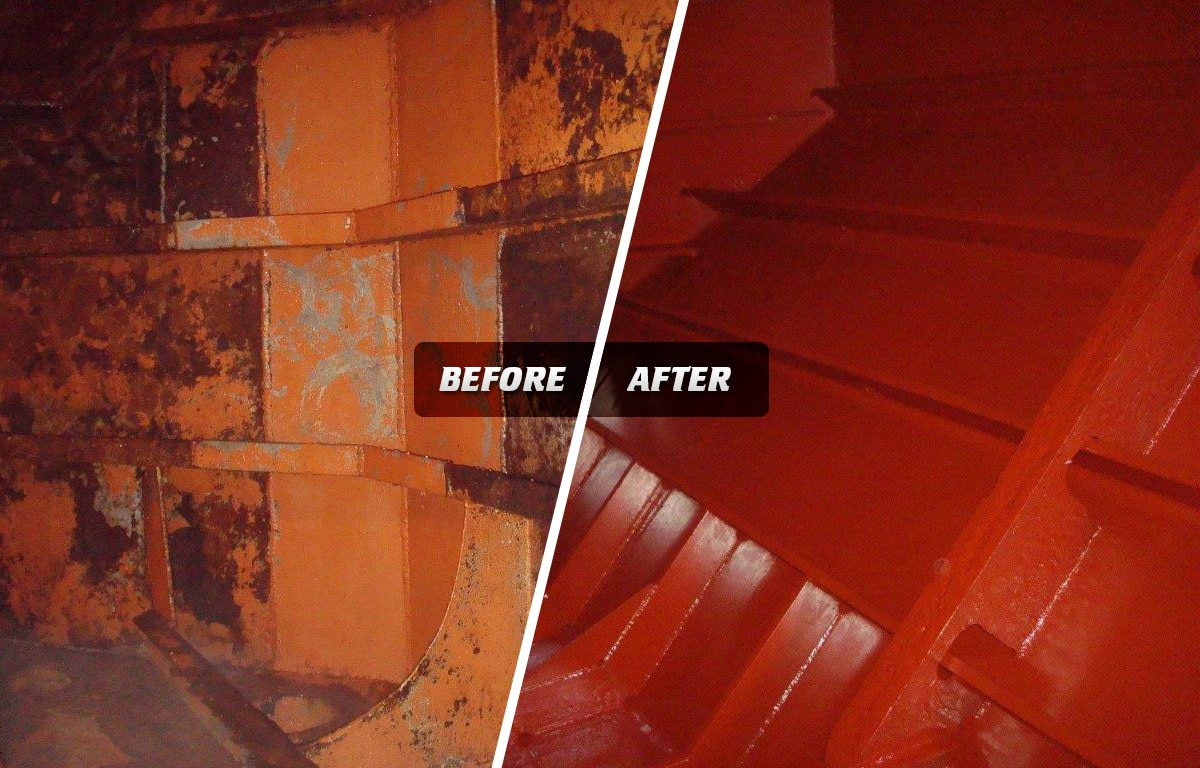 Marine CIP before and after