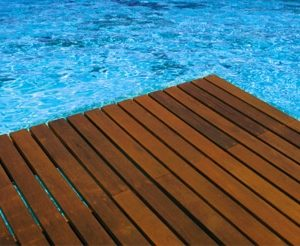Antislip in use on pool deck
