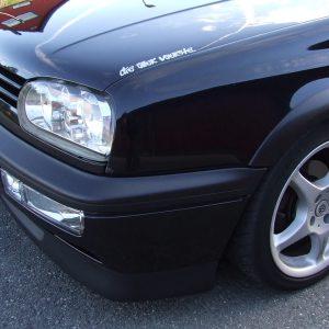 Faded car bumper restored with Polytrol