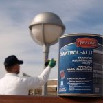 Owatrol ALU being applied to a lamp post