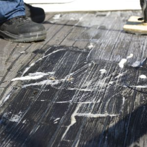 Deck Cleaner being applied to deck - ©Adfields