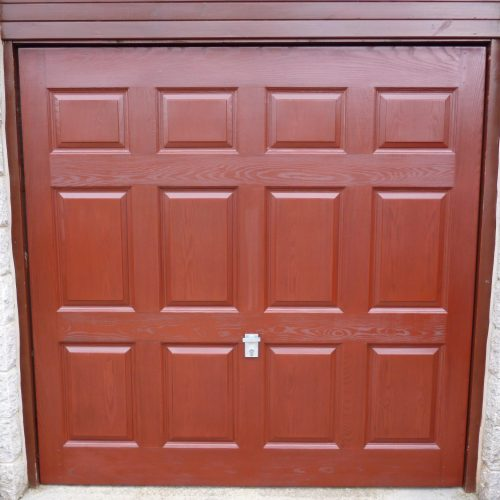 Garage door after applying Polytrol