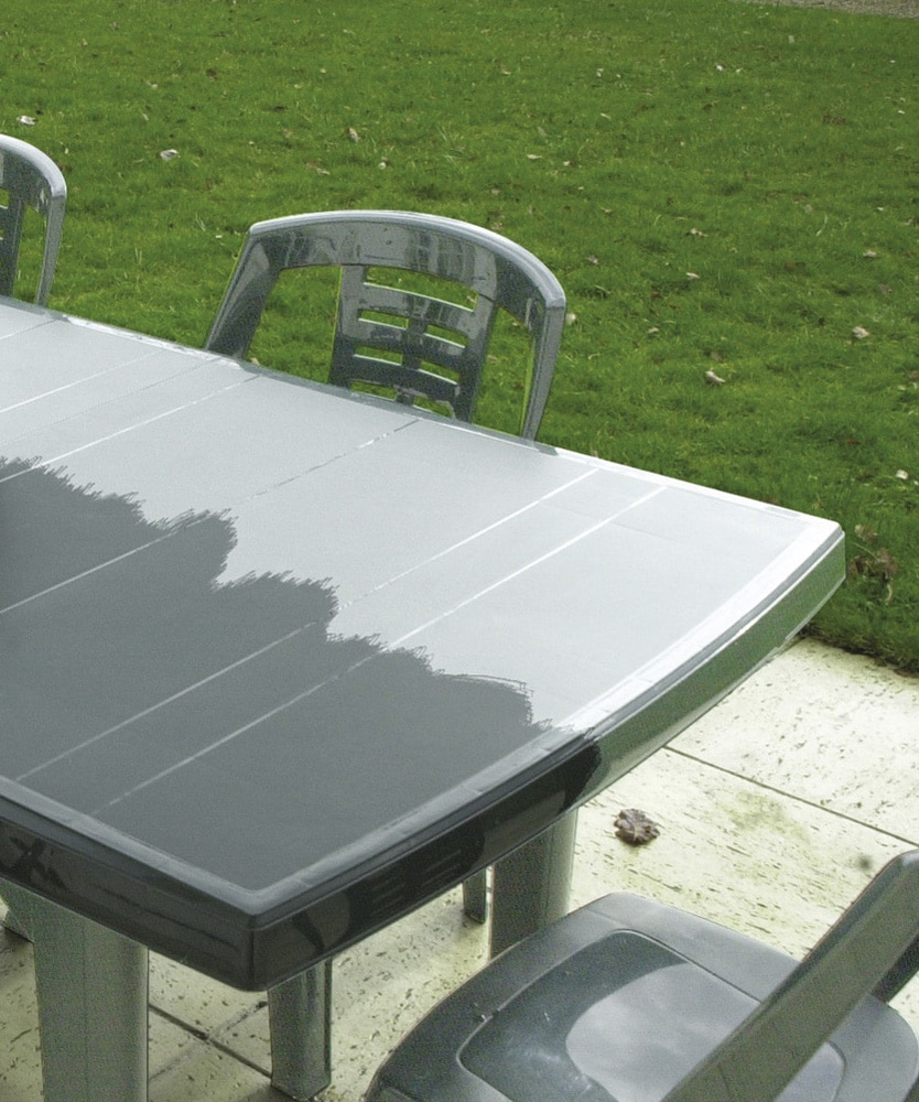Polytrol applied to plastic Garden furniture