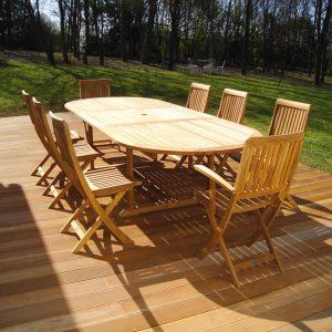renovating treated garden furniture