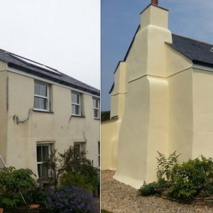 Farmhouse exterior renovation before and after using Easy Bond
