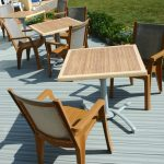 Stained decking with furniture
