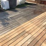 Stripping previous finish from a deck