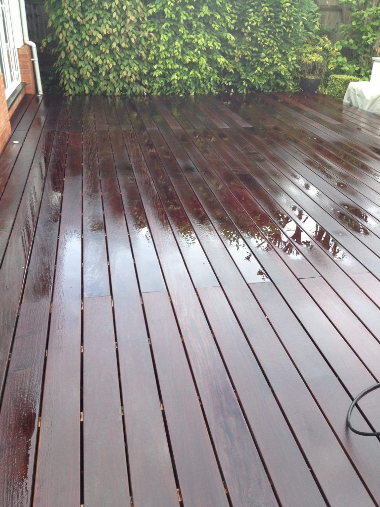 Deck after stripping with Prepdeck