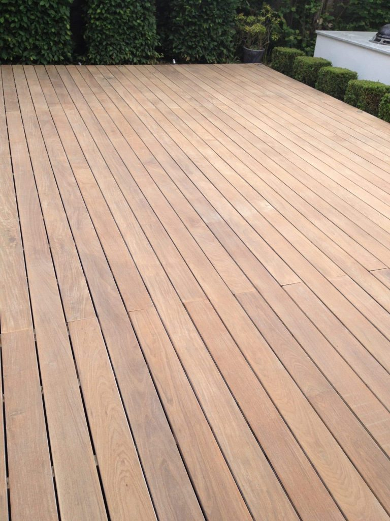 Deck after being sanded