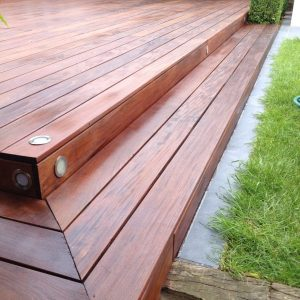 hardwood saturating D1 Pro wood oil used on decking steps