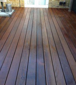 IPE garden deck protected