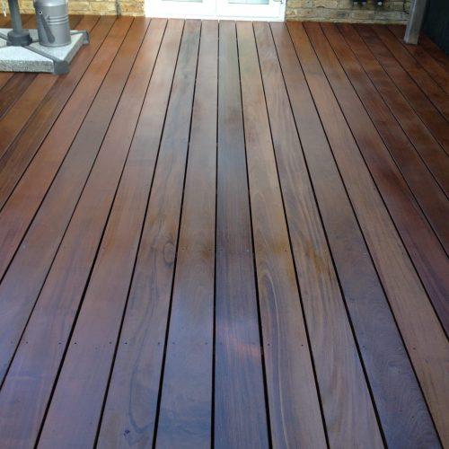 IPE garden deck protected with Deks Olje D1