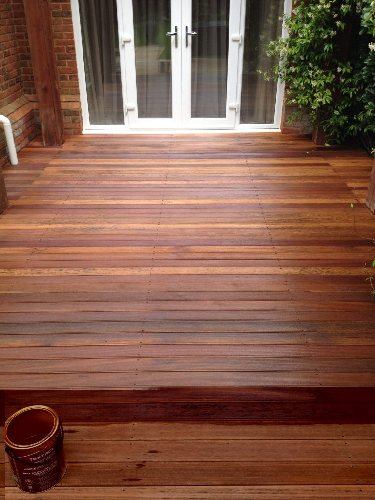 Deck after application of Textrol