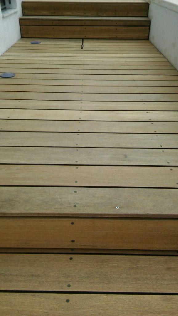 Sanded poolside decking