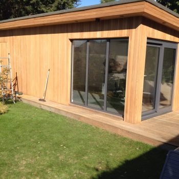 yard office after being sanded