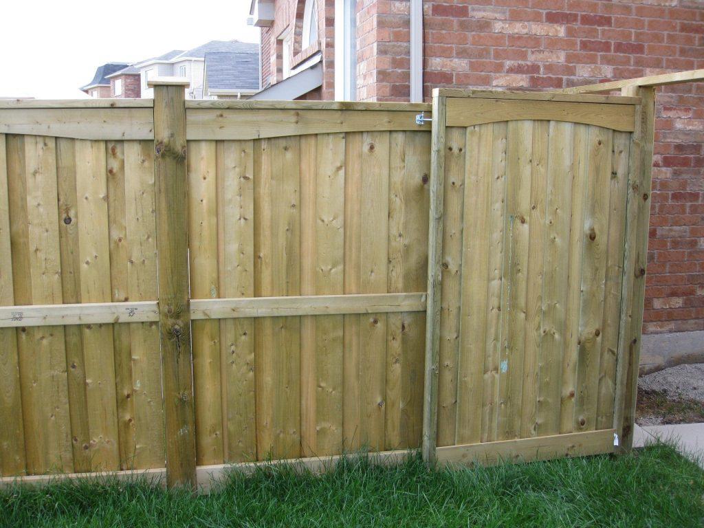A closeboard fence
