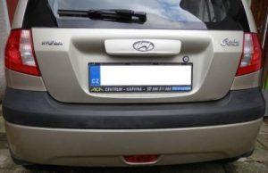 Car trim before revived with Polytrol