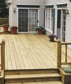 Protecting new decking