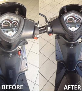 Moped before & after