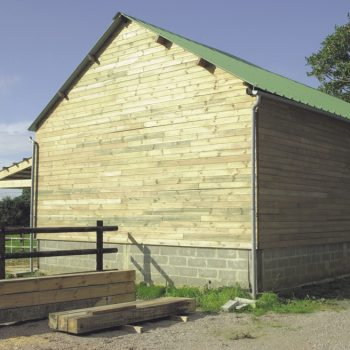 New wood protection Seasonite applied to wood cladding