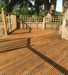 Deck after application of Aquadecks