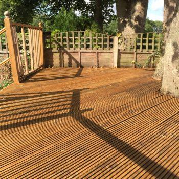 Deck after application of Aquadecks