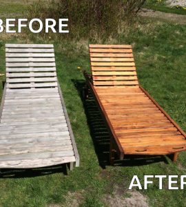 Sunbeds before and after being treated with Net-Trol and Textrol