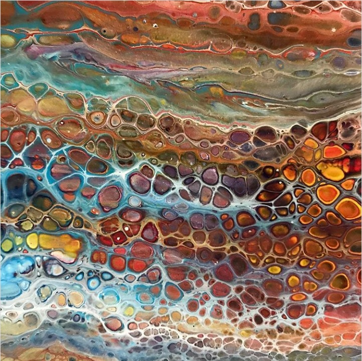 Fluid Acrylic artwork by Caren Goodrich