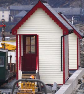 Railway signal box painted with SCS image credit to Silva Wood