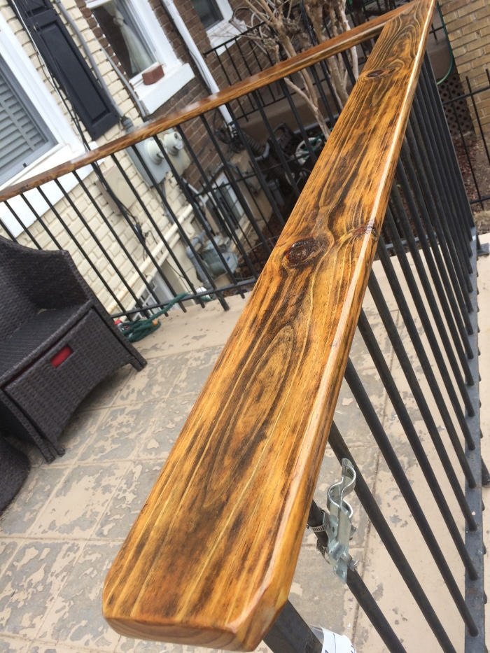 D2 used on porch railing