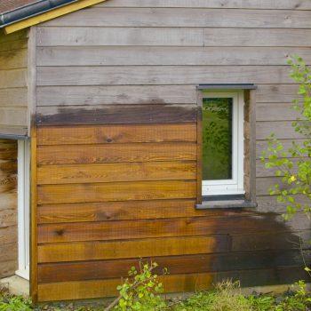 Net-Trol on wood cladding