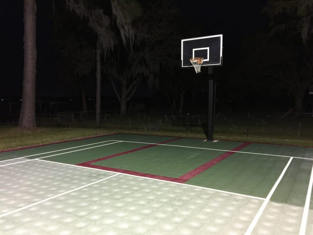 sport court revived with Polytrol