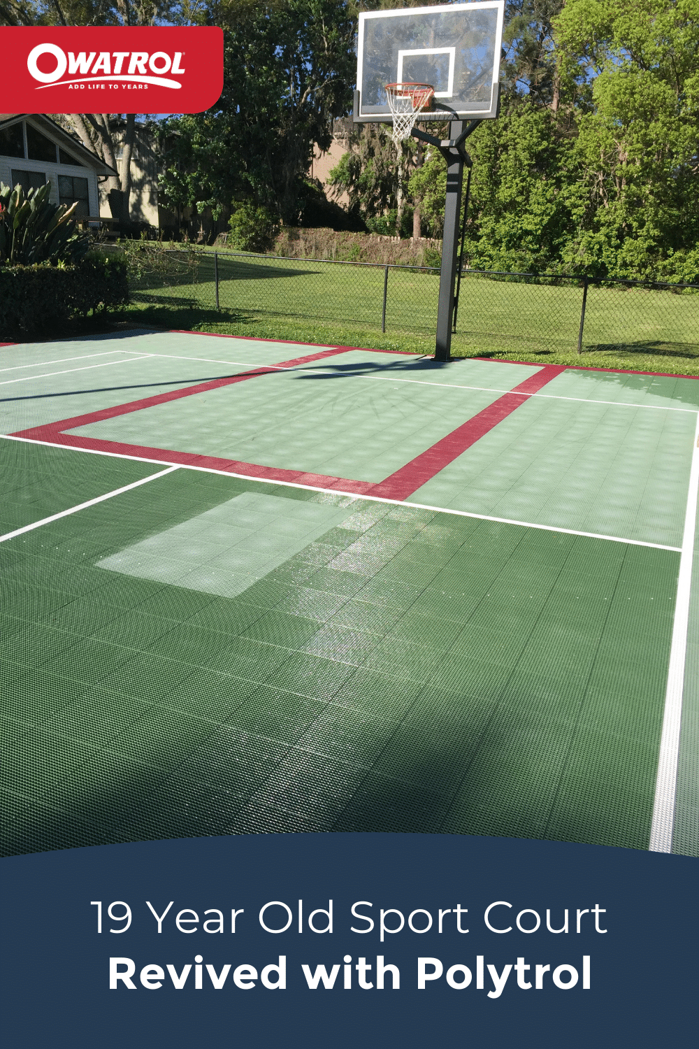 sport court revived with Polytrol - Pinterest
