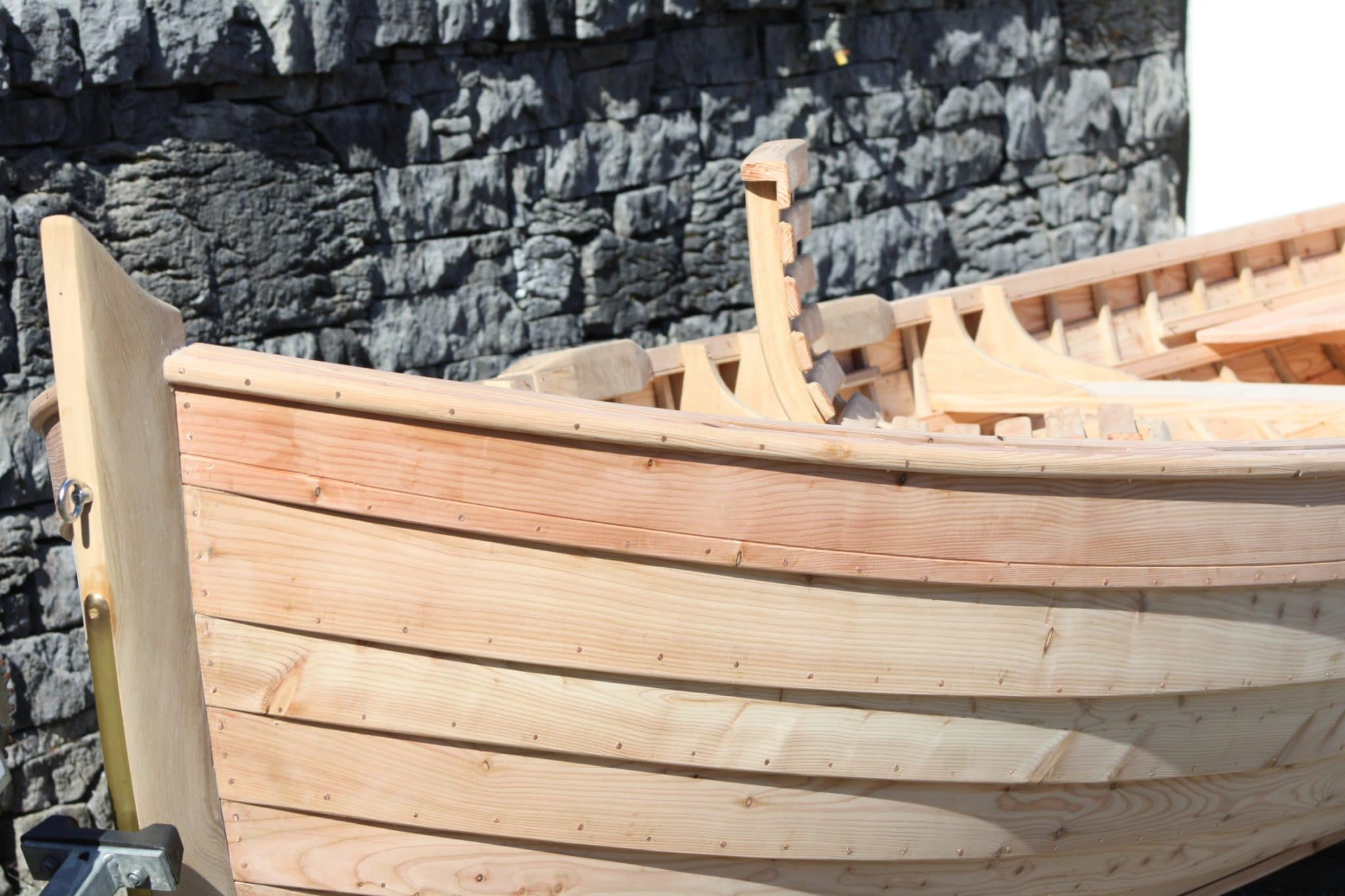 Before hull of boat finished with Deks Olje D1 & D2